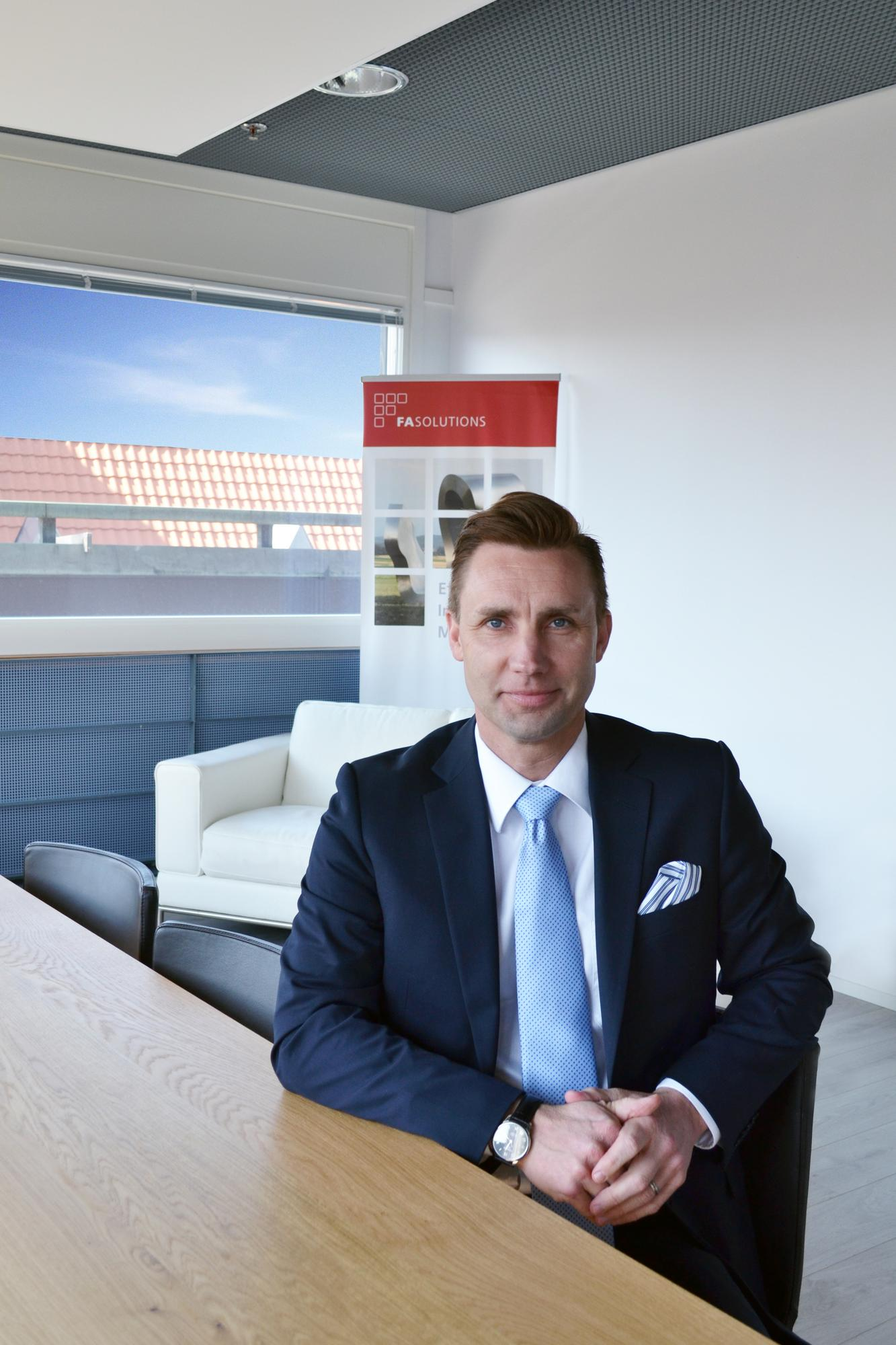 Hannes Helenius, Chairman of the Board & Partner, FA Solutions. © Anni Salo 2016